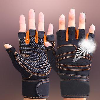 Tyngdlyftning Män / kvinnor Halvfingerhandskar