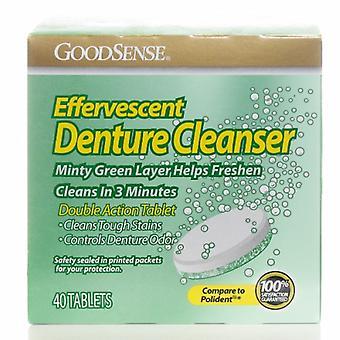 Good Sense Effervescent Denture Cleanser, 40 Tabs
