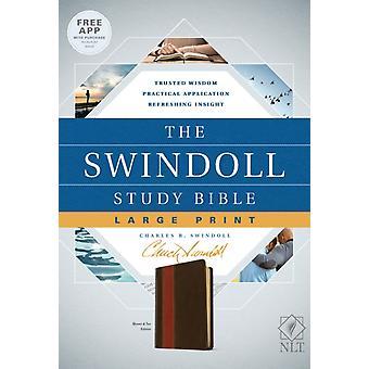 NLT Swindoll Study Bible Large Print Brown The di Charles R Swindoll