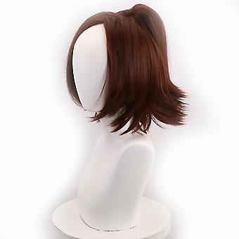 Attack On Titan Anime Wigs Hange Zoe Party Cosplay Wig Cap Brown