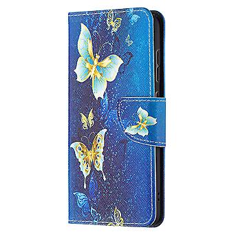 Samsung Galaxy S21 Fe Case Pattern Magnetic Protective Cover Gold Butterfly