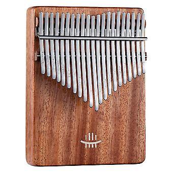 Kalimba Tommel Piano 17 Keys Acacia Bærbart Musikkinstrument
