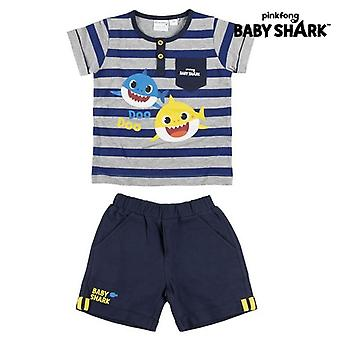 Set of clothes Baby Shark Blue