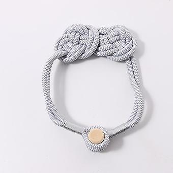 New punch-free hand-woven curtain magnetic button, cotton string chinese knot straps