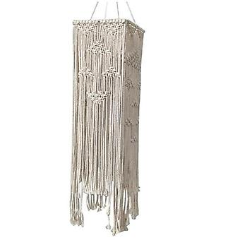 25*70CM Bohemian Tassel Decor Macrame Tapestry Wall Hanging Hand Woven Chandelier Lampshade