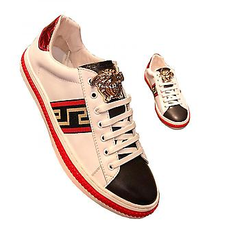 Fashion Strappy Shoes Men's Small White Shoes Leather Casual Shoes Men's Shoes
