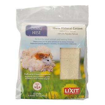 Lixit Cozy Nest Natural Cotton Bedding - 12 Count