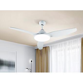 Schuller Orisho 6 Speed Ultra Silenzioso Ventilatore da soffitto bianco con luce a LED, telecomando, timer e funzioni reversibili