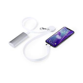 """Carregador de lanyard com USB-C"""", Micro USB e Lightning White 146145"""
