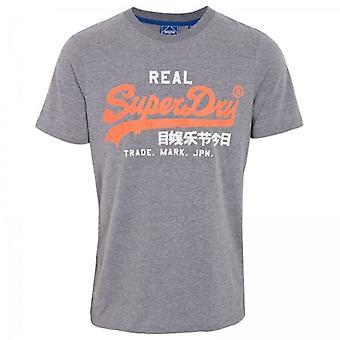 Superdry Vl Ac T-shirt Rich Charcoal Marl