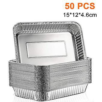 Eldobható alumínium fólia tálcák konténerek sütő élelmiszer tárolására, 25db