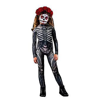 Damen Halloween Kostüm Skelett Print Bodysuit Skinny Jumpsuit