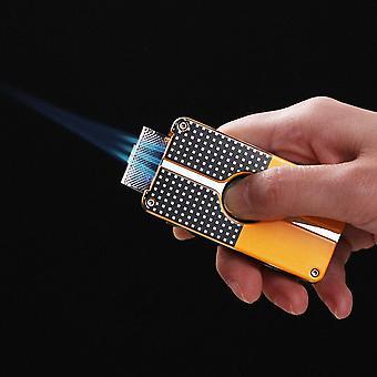 Portable Gas 3 Jet Lighter Punch New Smoking Cigar Lighter Windproof Fire Accessories