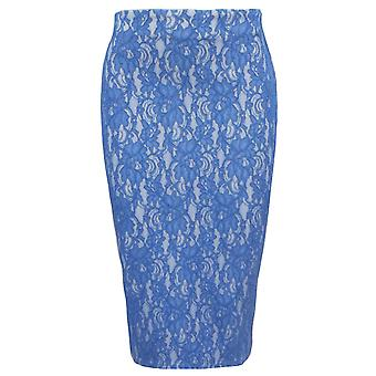 Ex River Island Floral Lace High Waisted bodycon Pencil Skirt
