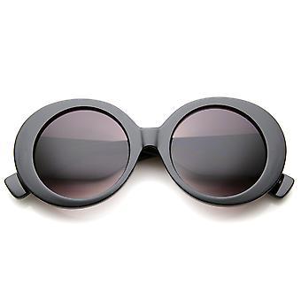 Womens High Fashion Glam stevige ronde oversized zonnebril 50mm