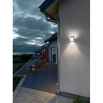 Konstsmide Pescara LED hvit Aluminium Square veggen lys