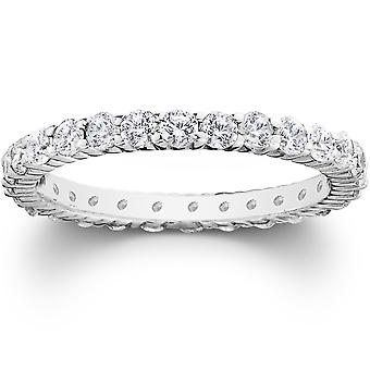 1ct Zinke Diamond Ewigkeit Ring 950 Palladium