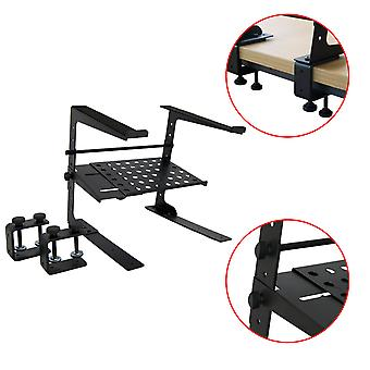 Tiger Laptop Stand / DJ Stand with Shelf and Desktop Clamps