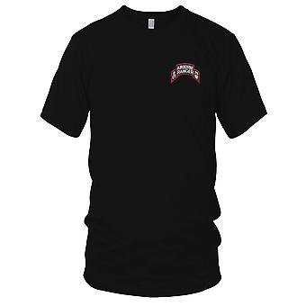US Army - B Company 75th Infantry Airborne Rangers Embroidered Patch - Scroll Mens T Shirt