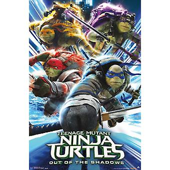 Tortues Ninja 2 - attaque affiche Poster Print