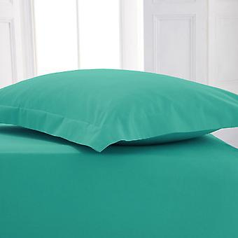 Percale Polycotton Flat Sheet Double Teal