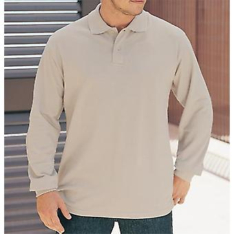 Russell Collection Long coton classique manches Mens Polo Shirt