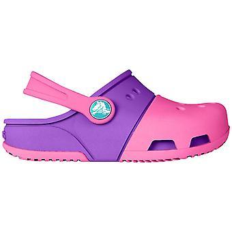 Crocs Girls Electro II Slip-On Crosslite Slingback Clog Rosa