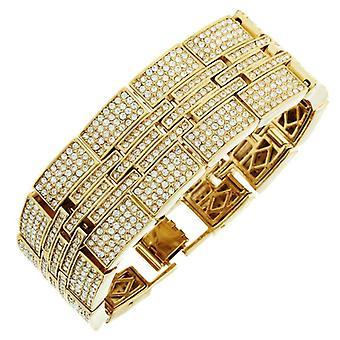 Iskallt ut bling HipHop armband armband - miljonär guld