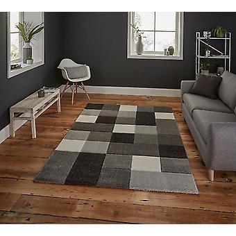 Brooklyn 646 Rectangle gris tapis tapis modernes