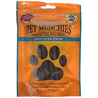 PET Munchies hund tugga behandla nötkött lever Stick, 90 g