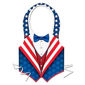 Plastic USA Vest patriotique