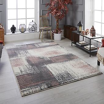 Sansa 2 S rectángulo rosa gris alfombras alfombras modernas
