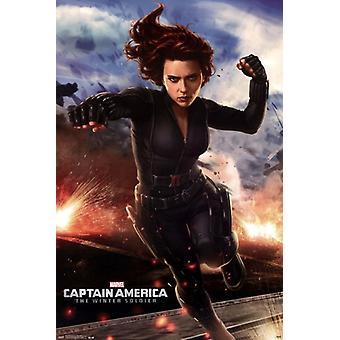Captain America 2 le Winter Soldier - Black Widow Poster Print