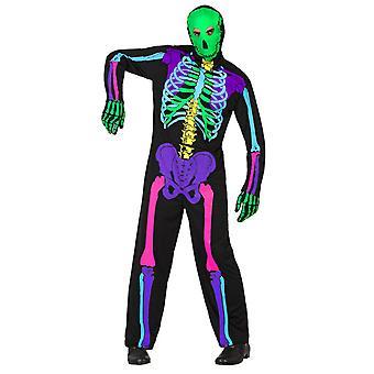 Herren Kostüme Neon Skelett Kostüm