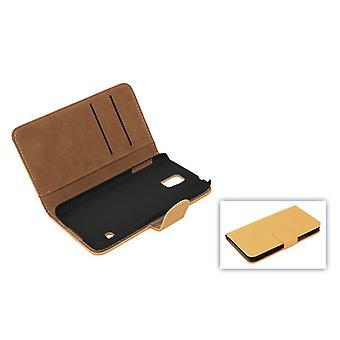 Cobrir o caso de telefone celular (aleta Cruz) para celular Samsung Galaxy S4 i9500 marrom claro