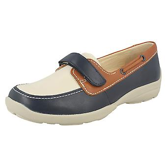 Ladies Easy B Flat Loafer Style Shoes Elizabeth