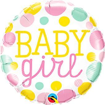 260Qs em 18 bebê menina pontos balão da folha