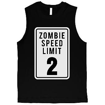Zombie vitesse limite Mens Black Muscle Shirt
