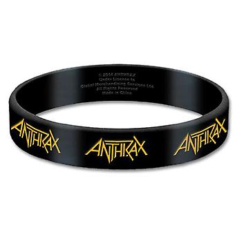 Anthrax Wristband band Logo Repeat for all kings Official New Black 17 mm rubber