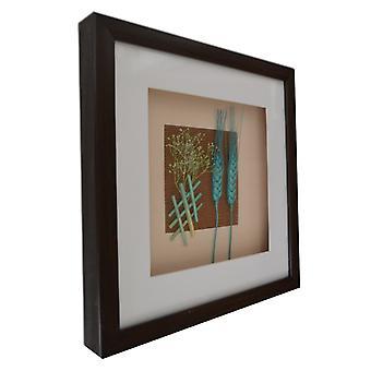 30x30 cm, hvede med stel og glas