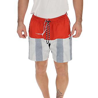 Adidas By Alexander Wang Dt9496 Men's Grey/red Nylon Shorts
