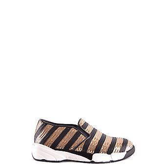 Pinko Ezbc056076 Kvinder's White Sequins Slip On Sneakers