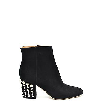 Sergio Rossi Ezbc040015 Women-apos;s Black Suede Ankle Boots