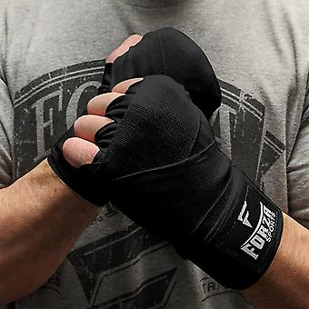 """Forza Sports 120"""" Mexican Style Boxing and MMA Handwraps - Black"""