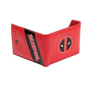 Deadpool Logo Red Tri-Fold Wallet