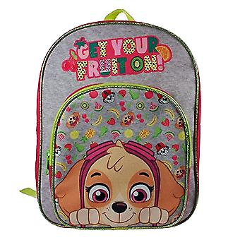 Paw Patrol Skye Get Your Fruit On Grey & Pink Children's Backpack