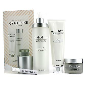 Glotherapeutics Cyto-Luxe collectie (Limited Edition): Body Lotion Cleanser + masker + masker Applicator 4-pack
