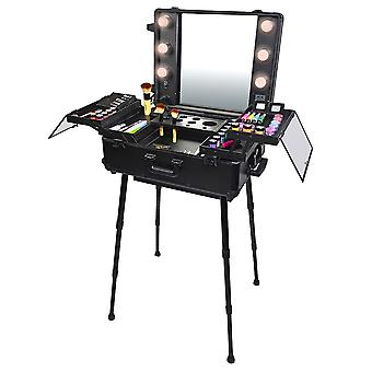 SHANY Studio ToGo Wheeled Trolley Makeup Case & Organizer with Light