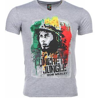 Camiseta-Bob Marley Concrete Jungle Print-Grey