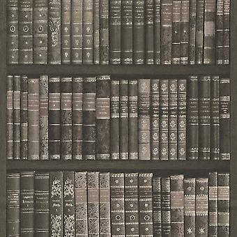 Rasch boek plank patroon behang boeken Case bibliotheek faux effect 525823